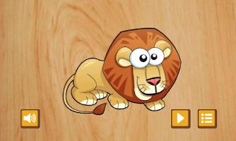 Screenshot of Savannah kids puzzle game