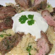 Spicy Lamb With Garlic Couscous