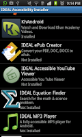Screenshot of IDEAL Accessible App Installer