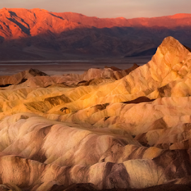 Zabriskie Morning by David Hellard - Landscapes Mountains & Hills ( amargosa, death valley, hills, point, zabriskie, mountain, range, valleys, california, valley, morning, peaks )