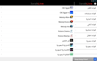 Screenshot of 3arab Live TV