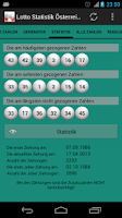 Screenshot of Lotto Statistik Österreich