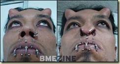 Jovem faz modificação facial para parecer com diabo