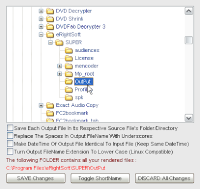 右クリックでOutput File Saving Management(保存場所の変更)をしておきましょう。