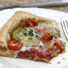 Pesto Tomato Tart with Taleggio and Thyme