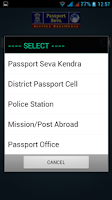 Screenshot of mPassport Seva