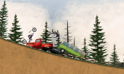 Stickman Downhill Motocross - screenshot