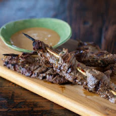 Beef Satay Skewers with Habanero Peanut Sauce Recipe
