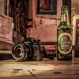 Photos and beer. by James Lewis - Artistic Objects Still Life (  )