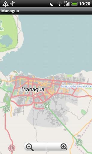 Managua Street Map