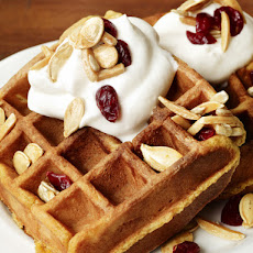 Pumpkin Waffles With Trail-Mix Topping