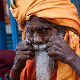 Attitude of a baba by Rakesh Syal - People Portraits of Men (  )