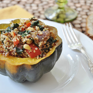 Stuffed Acorn Squash with Quinoa and Kale