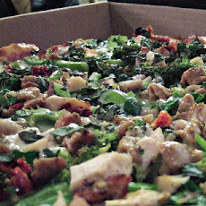 Chicken, Spinach, Sun-Dried Tomato, and Feta Pizza