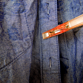 orange peg by Gary Bridger - Artistic Objects Clothing & Accessories ( denim colour, pwc 117: complementary colors: blue-orange, pegs )