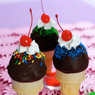 Ice Cream Cone Sundaes