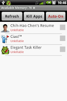Screenshot of Elegant Task Killer