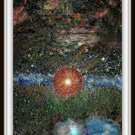 night sky by Luis Baez - Abstract Patterns ( abstract art, digital art, fine art, space )
