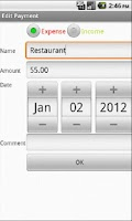 Screenshot of BudgetTracker