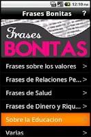Screenshot of Frases Bonitas