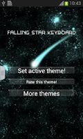 Screenshot of Falling Star Keyboard