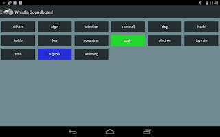 Screenshot of Whistle Soundboard