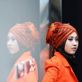 reflection  by En Miezter - People Portraits of Women