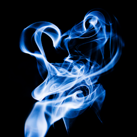 Blue smoke dancing by Suzana Trifkovic - Abstract Patterns ( abstract, pattern, blue, smoky, black, smoke )