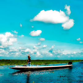 Color my world by Jamaluddin Abdul Jalil - Landscapes Cloud Formations ( #blue#whitw#landscape, #fisherman#boat#thale noi#thailand, #waterscape#clods#lake#shimmering,  )