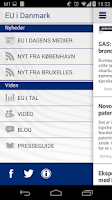 Screenshot of EU i Danmark