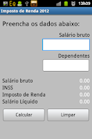 Screenshot of Imposto de Renda 2013