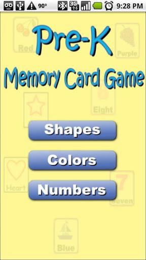 Pre-K Memory Game free