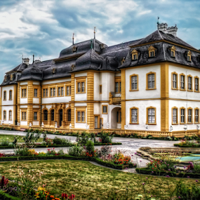 Veitshöchheim Palace by Andrea Conti - City,  Street & Park  Historic Districts ( munich, building, park, veitshöchheim, gardens, germany, castle, palace, historic )