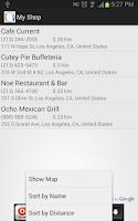 Screenshot of Restaurant Finder