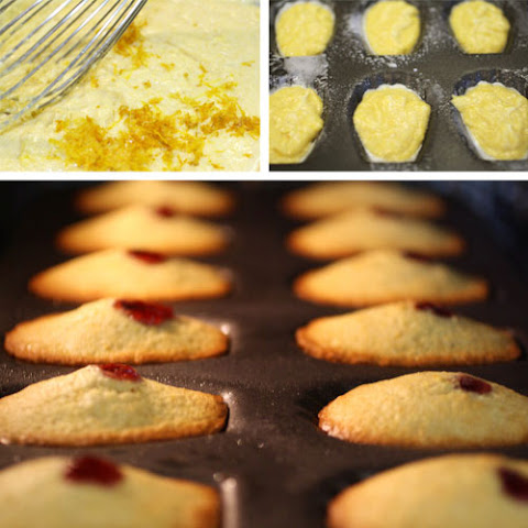 80-Cent Citrus Corn-Muffin Madeleines with Raspberry Confiture