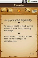 Screenshot of Khmer Proverbs