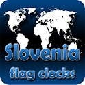 Slovenia flag clocks icon