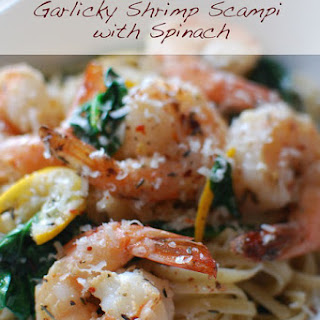 Garlicky Shrimp Scampi with Spinach