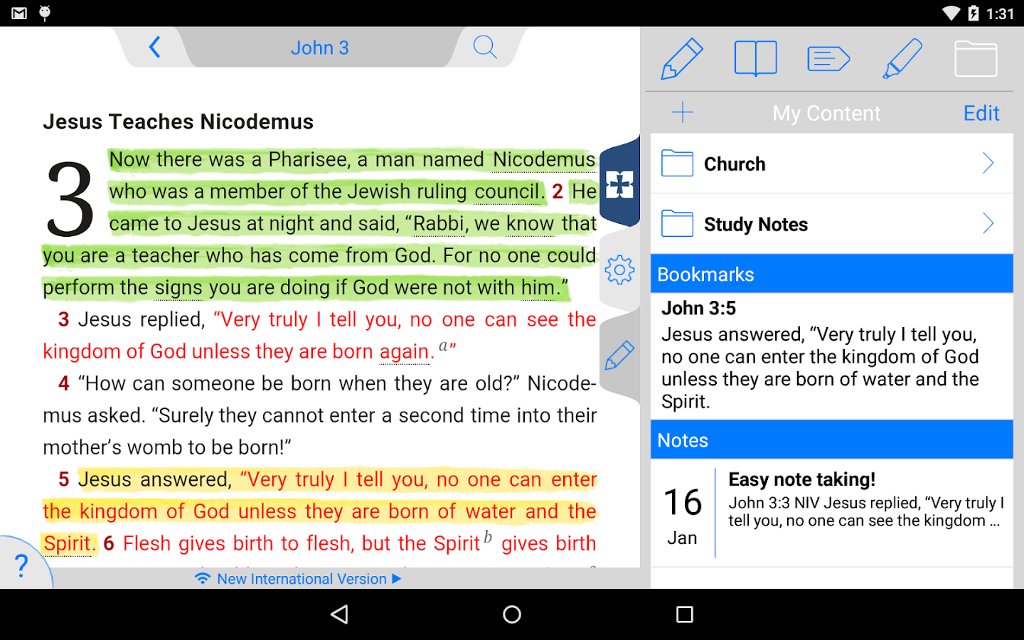 NIV 50th Anniversary Bible Screenshot 19