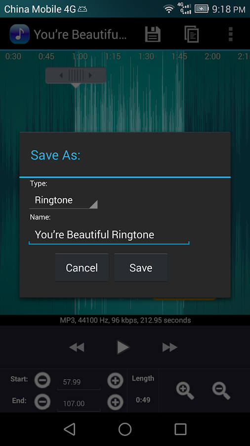 Ringtone Maker Pro Screenshot 2