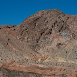 Ups and Downs by Leslie Nu - Landscapes Deserts ( mountains, desert, blue, colors, caves, sandstone, rocks )