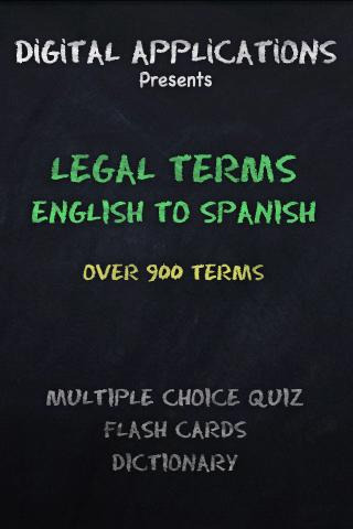 900 LEGAL TERM-English Spanish
