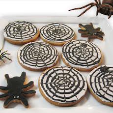 Halloween Spiderweb Cookies