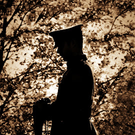 Honour and Respect  by Judee Schofield - News & Events World Events ( honour, remember, air cadet, post, uniform, gun )