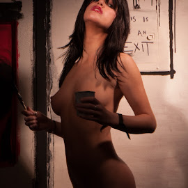 The Artist by Aller Beauchamp - Nudes & Boudoir Artistic Nude ( nude, art, burnside, artist, painter, black )