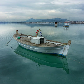 Reflections by Eva Ba - Instagram & Mobile Android ( reflection, greece, sea, view, boat, nafplio )