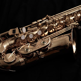 a piece of brass by Almas Bavcic - Artistic Objects Musical Instruments