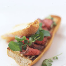 Steak Sandwiches with Horseradish Mustard Butter and Watercress