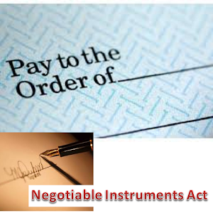 negotiable instruments act A negotiable instrument is a document guaranteeing the payment of a specific amount of money, either on demand, or at a set time, with the payer usually named on the document more specifically, it is a document contemplated by or consisting of a contract, which promises the payment of money without condition, which may be paid either on.