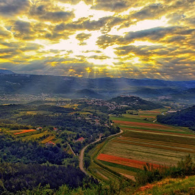 Buzet (Istra) Croatia sunrise by Borna Cuk - Landscapes Sunsets & Sunrises ( istra, croatia, buzet, sunrise, veli mlun,  )